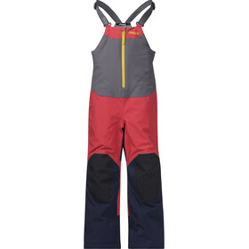 Bergans Ruffen Insulated Salopette Kids, light dahlia red/navy/waxed yellow